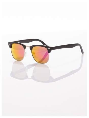 Czarne okulary przeciwsłoneczne lustrzanki typu CLUBMASTER