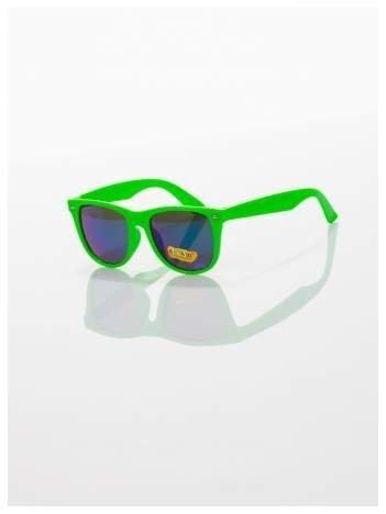 Dziecięce lustrzanki z filtrami UV -okulary z klasyczną oprawką WEYFARER NERD odporne na wyginania