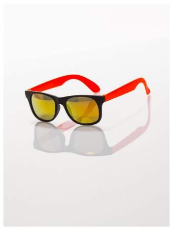 Dziecięce lustrzanki z filtrami UV okulary z klasyczną oprawką WEYFARER NERD odporne na wyginania