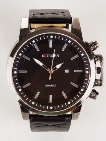 Nowoczesny i duży męski zegarek z datownikiem