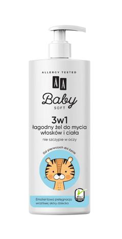 """AA Baby Soft Łagodny Żel do mycia i włosków 500ml"""""""