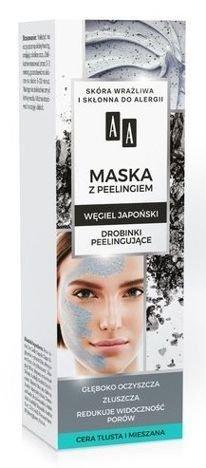 AA CARBON&CLAY Maska węglowa z peelingiem 30 ml
