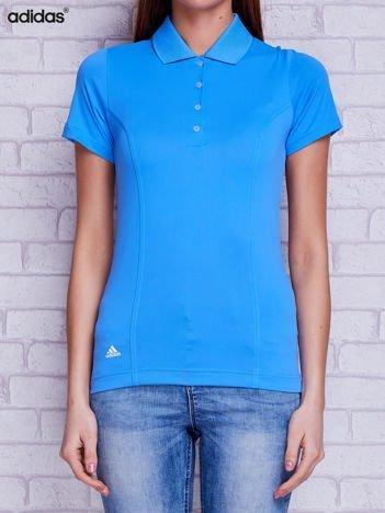 ADDIDAS Niebieska koszulka polo