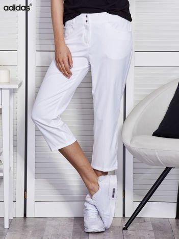 ADIDAS Białe spodnie capri