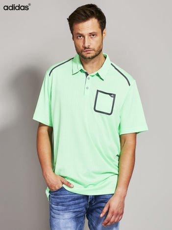 ADIDAS Fluo zielona koszulka polo męska
