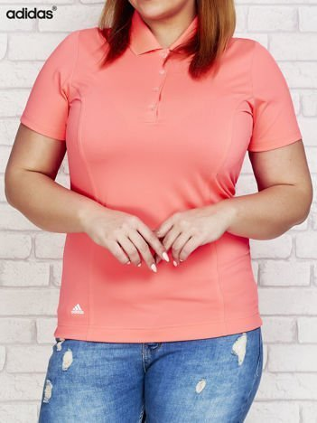 ADIDAS Różowa koszulka polo gładka