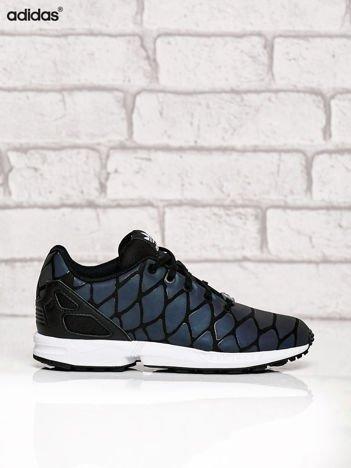 ADIDAS czarne buty opalizujące Zx Flux Xenopeltis