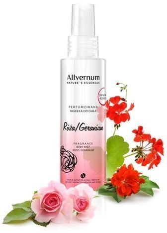ALLVERNE NATURE ESSENCES Perfumowana mgiełka do ciała Róża/Geranium 125 ml