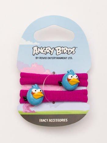 ANGRY BIRDS Komplet 2 różowych gumek-frotek