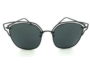 ASPEZO Okulary przeciwsłoneczne POLARYZACYJNE damskie czarne SEUL Etui skórzane, etui miękkie oraz ściereczka z mikrofibry w zestawie