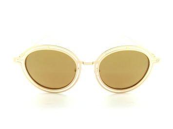 ASPEZO Okulary przeciwsłoneczne POLARYZACYJNE damskie złote MAJORCA. Etui skórzane, etui miękkie oraz ściereczka z mikrofibry w zestawie