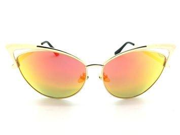 ASPEZO Okulary przeciwsłoneczne damskie POLARYZACYJNE pomarańczowe IBIZA Etui skórzane, etui miękkie oraz ściereczka z mikrofibry w zestawie