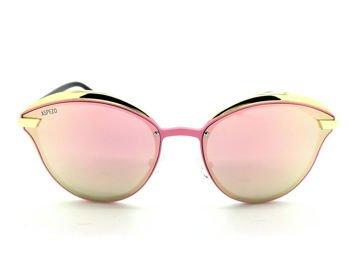 ASPEZO Okulary przeciwsłoneczne damskie POLARYZACYJNE różowe BALI Etui skórzane, etui miękkie oraz ściereczka z mikrofibry w zestawie
