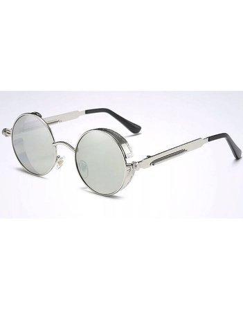 ASPEZO Okulary przeciwsłoneczne damskie POLARYZACYJNE srebrne AMSTERDAM Etui skórzane, etui miękkie oraz ściereczka z mikrofibry w zestawie