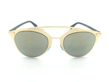 ASPEZO Okulary przeciwsłoneczne damskie złote MONTREAL. Etui skórzane, etui miękkie oraz ściereczka z mikrofibry w zestawie