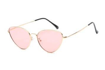 ASPEZO Okulary przeciwsłoneczne damskie złoto-różowe SEVILLA Etui skórzane, etui miękkie oraz ściereczka z mikrofibry w zestawie
