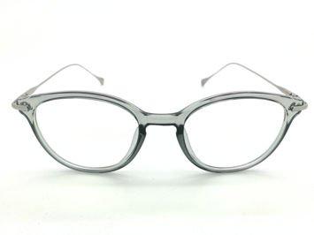 ASPEZO Okulary zerówki damskie szare OXFORD Etui skórzane, etui miękkie oraz ściereczka z mikrofibry w zestawie