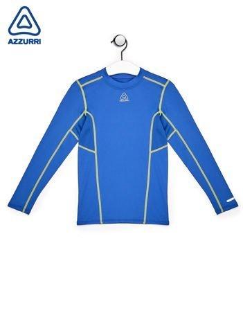 AZZURI Niebieska sportowa bluzka chłopięca