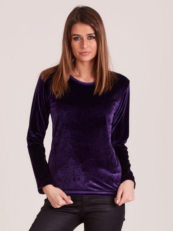 Aksamitna bluza damska fioletowa
