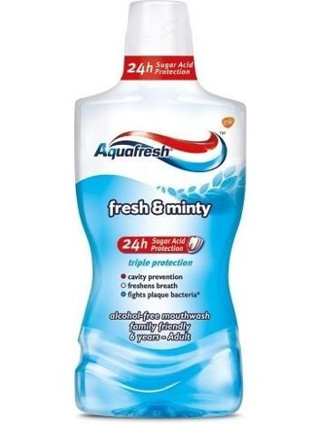 Aquafresh Płyn do płukania jamy ustnej Triple Protection Extra Fresh &  Minty 500 ml