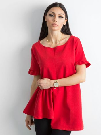 Asymetryczna bluzka czerwona