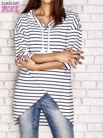 Asymetryczna bluzka w paski biała