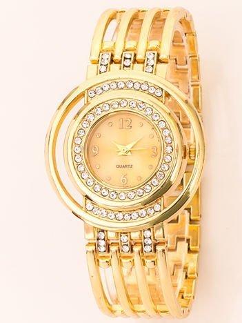 Ażurowy Złoty Zegarek Damski Na Bransolecie