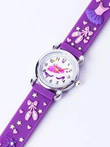 BALLET Fioletowy Dziecięcy Zegarek STRÓJ BALETNICY