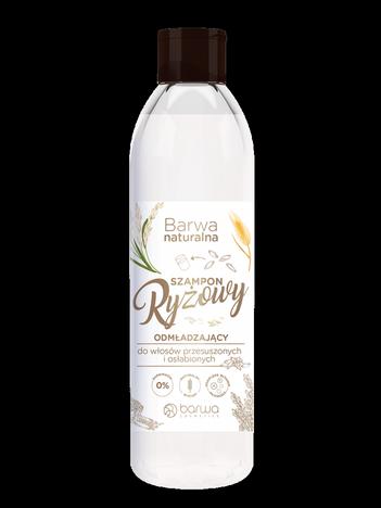 BARWA Naturalna Szampon do włosów ryżowy odmładzający - włosy przesuszone i osłabione 300 ml