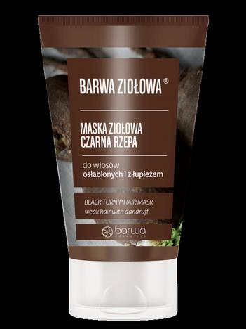 BARWA Ziołowa Maska do włosów Czarna Rzepa - włosy osłabione i  z łupieżem 120 ml
