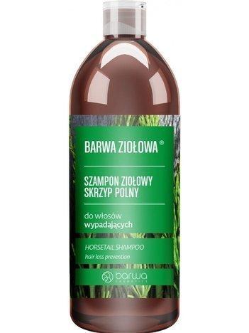 BARWA Ziołowa Szampon do włosów Skrzyp Polny - włosy wypadające 480 ml