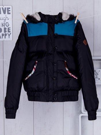 BELLFIELD Czarna zimowa kurtka dziecięca