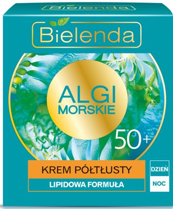 BIELENDA Algi Morskie Krem 50+ PÓŁTŁUSTY na dzień i noc 50 ml