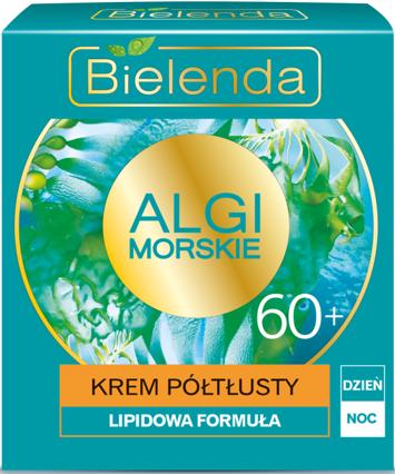 BIELENDA Algi Morskie Krem 60+ PÓŁTŁUSTY na dzień i noc 50 ml