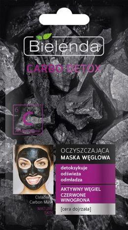 BIELENDA Carbo Detox Czarny Węgiel Maska oczyszczająca do cery dojrzałej 8g
