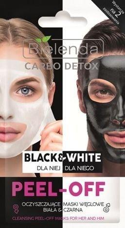 BIELENDA Carbo Detox Maska peel-off Black&White dla niej i dla niego 2x6g