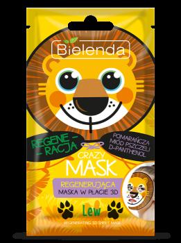 BIELENDA Crazy Mask Regenerująca maska w płacie LEW 1szt