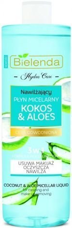 BIELENDA HYDRA CARE Nawilżający płyn micelarny 3w1 KOKOS & ALOES 500 ml