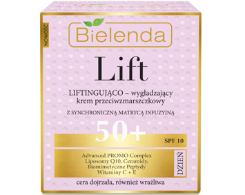 BIELENDA LIFT Liftingująco-wygładzający krem 50+ DZIEŃ 50 ml