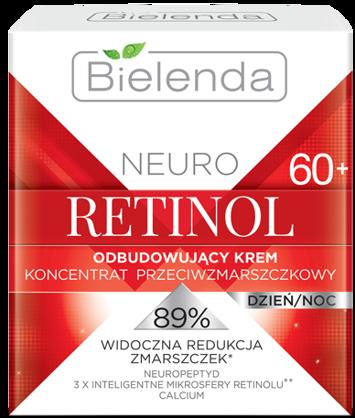 BIELENDA NEURO RETINOL Odbudowujący krem – koncentrat przeciwzmarszczkowy 60+ dzień/noc 50 ml
