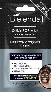 BIELENDA ONLY FOR MAN Carbo Detox Oczyszczająca maseczka do twarzy PEEL-OFF 2x5 g