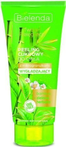 BIELENDA Twoja Pielęgnacja Peeling cukrowy do ciała WYGŁADZAJĄCY Bambus i Zielona Herbata 200 ml