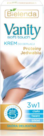 BIELENDA VANITY Soft TOUCH Krem do depilacji proteiny jedwabiu 100 ml