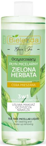 BIELENDA ZIELONA HERBATA Oczyszczający płyn micelarny 3w1 500 ml