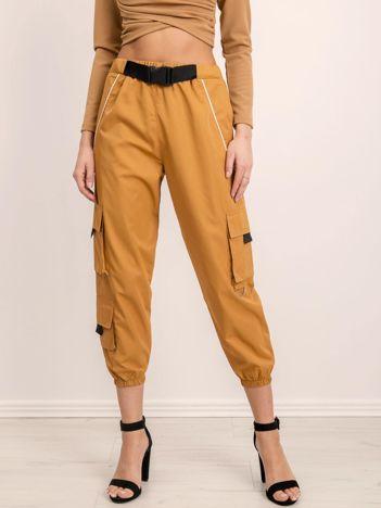 BSL Beżowe luźne spodnie