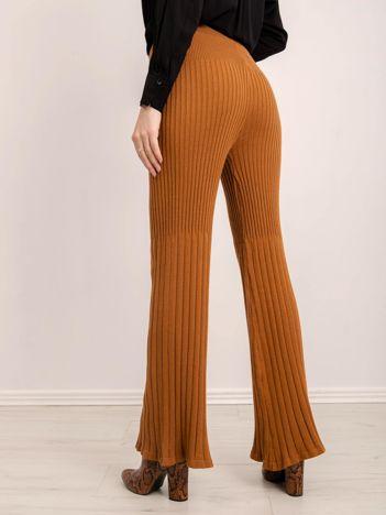 BSL Brązowe dzianinowe spodnie