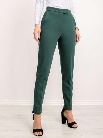 BSL Ciemnozielone spodnie damskie