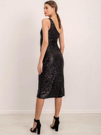 BSL Czarna elegancka sukienka