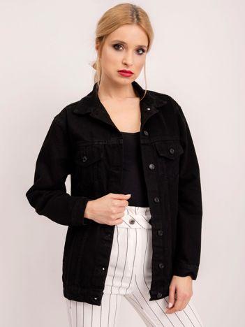 BSL Czarna kurtka z denimu