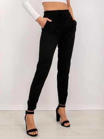BSL Czarne spodnie z dzianiny